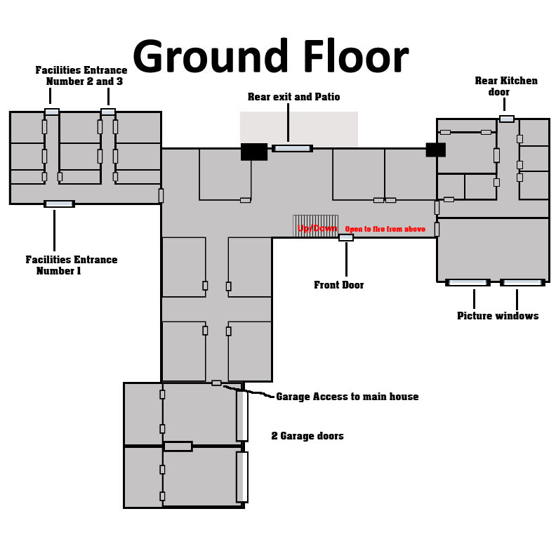 Mansion Main Floor floor plan