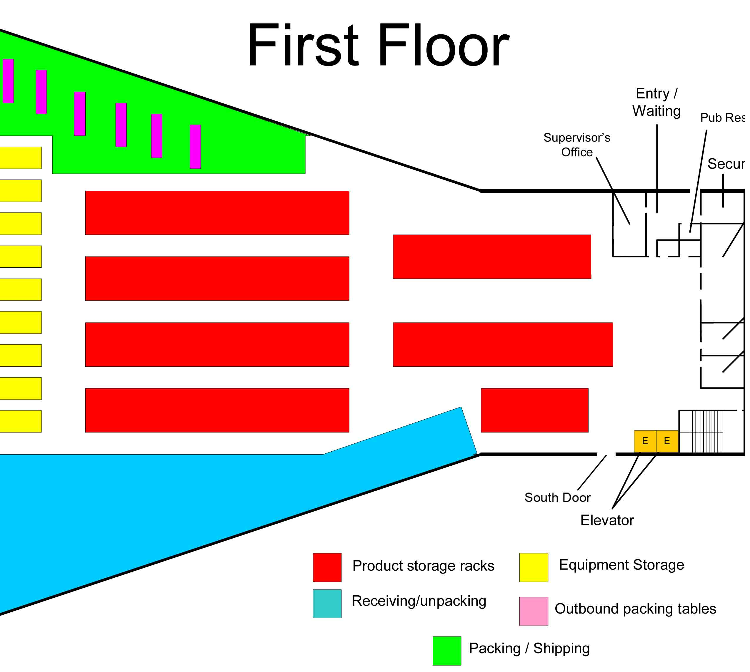 Warehouse floorplan